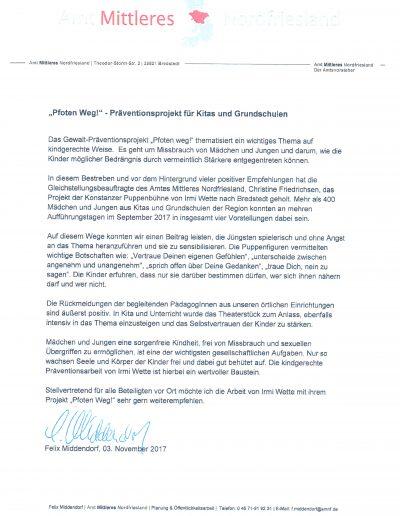 Amt Mittleres Nordfriesland, Felix Middendorf