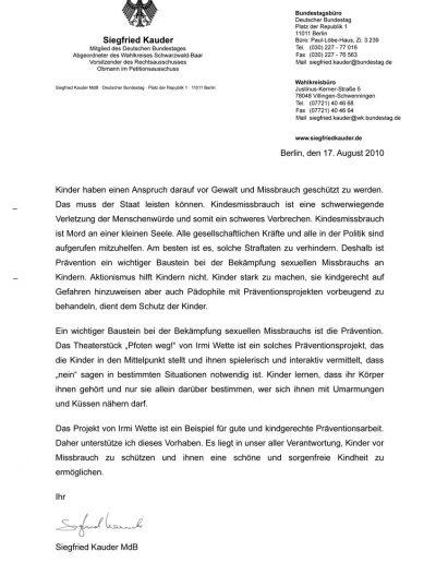 Grußwort Siegfried Kauder